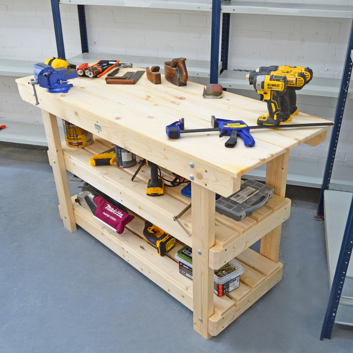 sturdy wooden workbench for sale