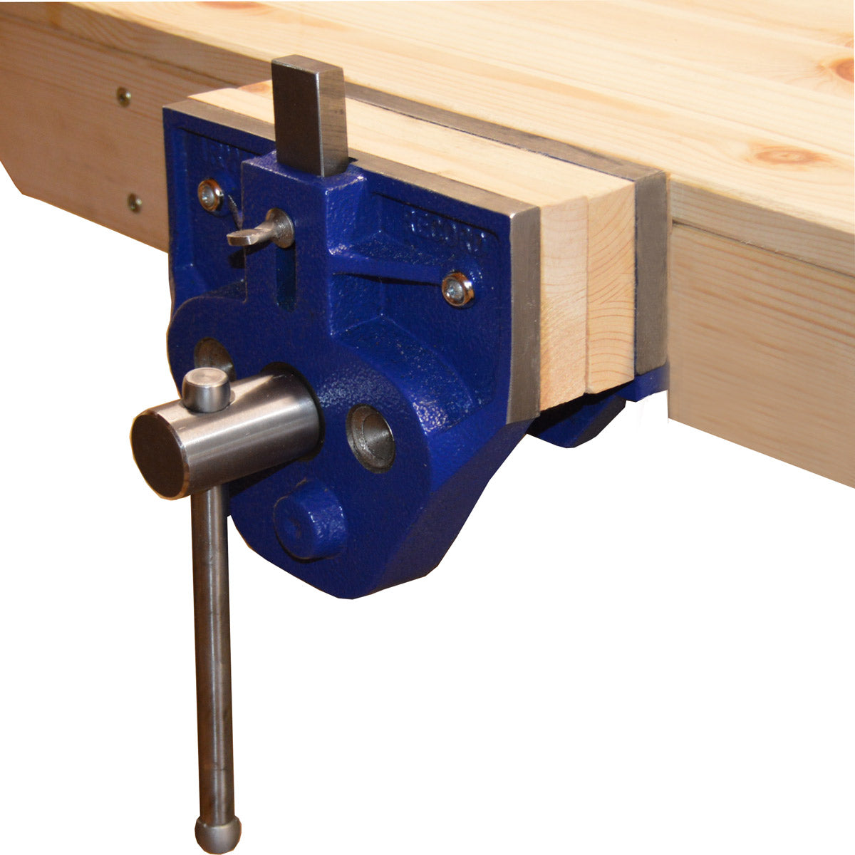 """installed - irwin record 7"""" woodworking vice (t52pd)"""