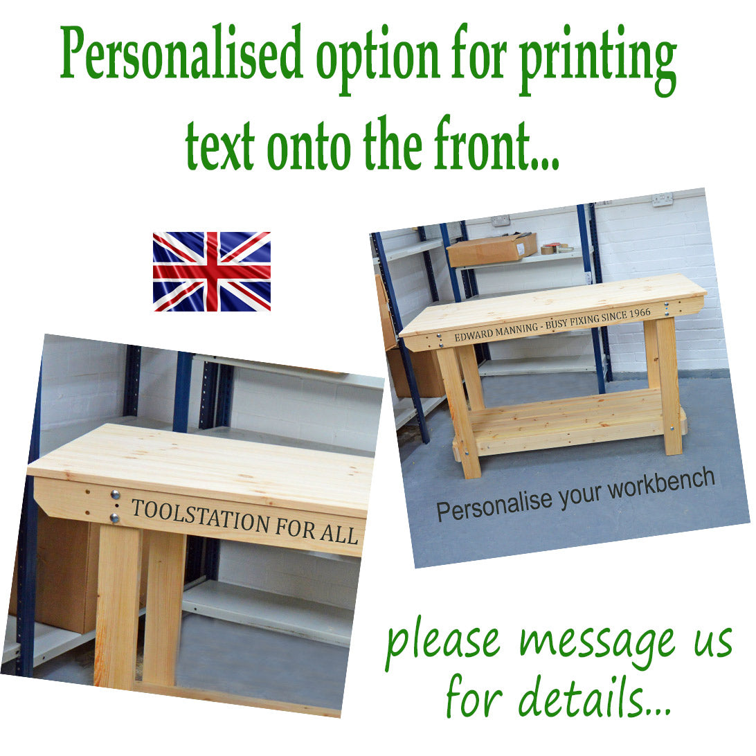 Personalised wooden workbench