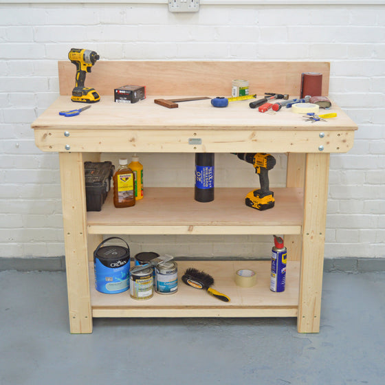 large plywood workbench