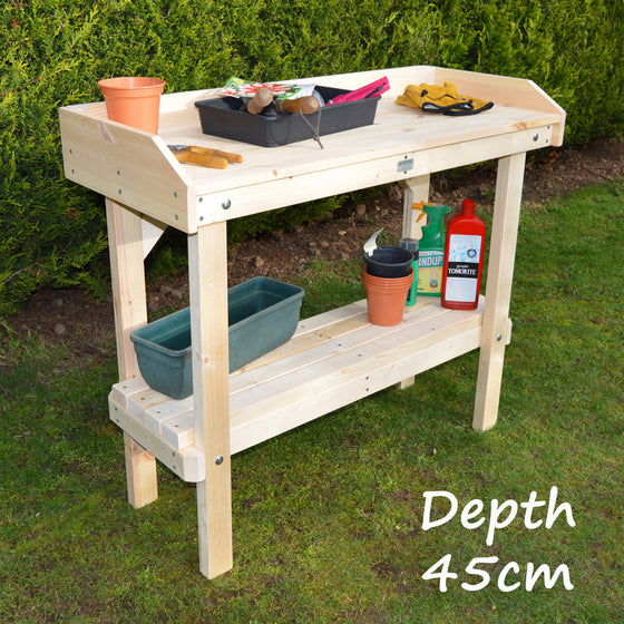 Potting Table - Plain Pine Untreated (45cm Depth - Options on Width))