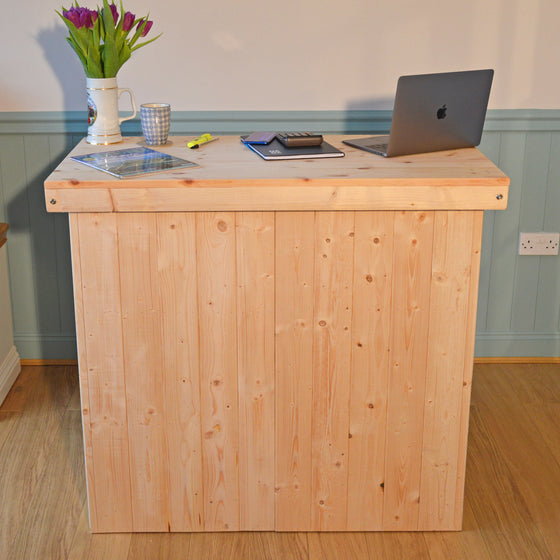Foldaway Bar | Counter - Natural Pine - Ready for you to colour as required