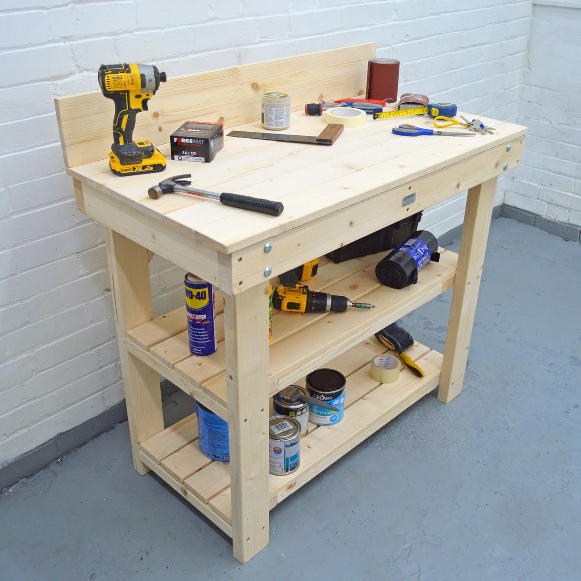 strong pine workbench