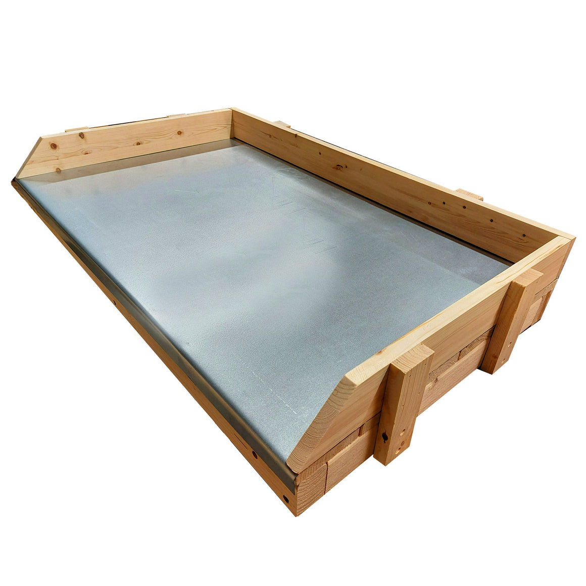 potting table with steel top