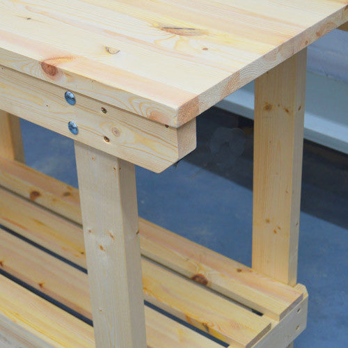 Handmade wooden workbench Bournemouth
