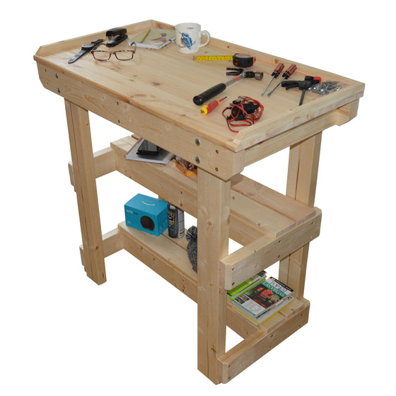 Workbench - Jewellery. Electronics - Sit down with worktop lip (2ft - 5ft)