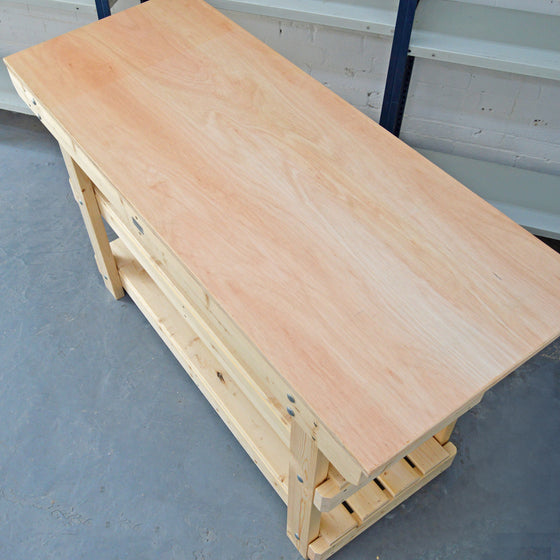 plywood worktop for workbench