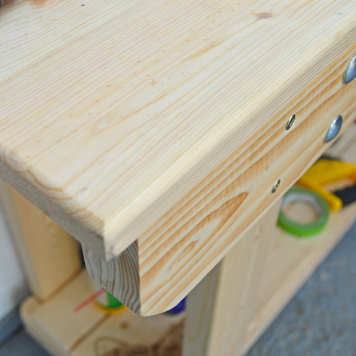 solid pine workbench