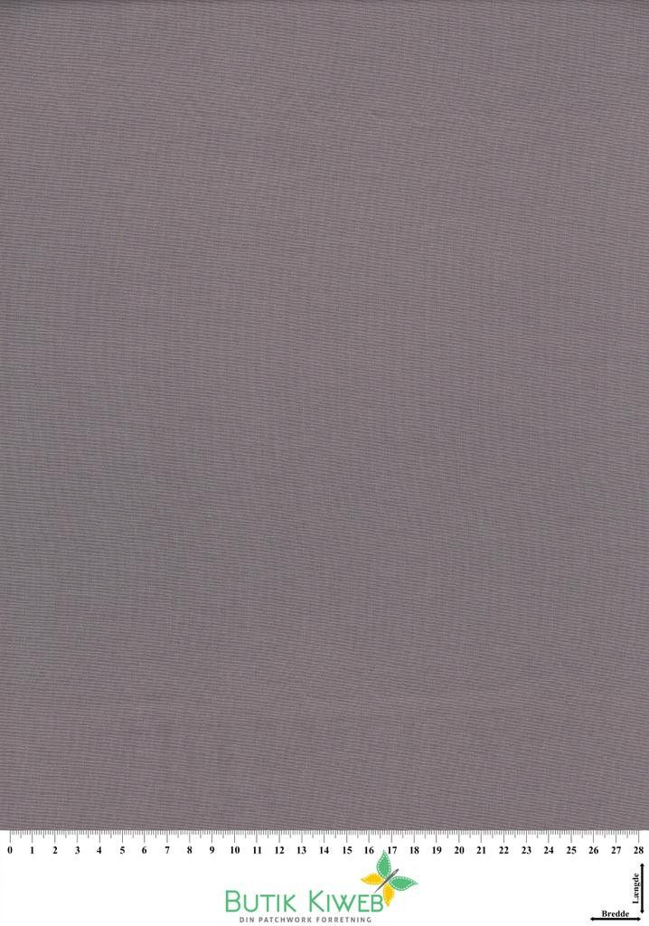 Ensfarvet smokey grey Kona cotton