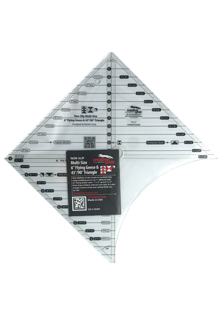 "Creative Grids 6"" Flying Geese & 45'/90' Triangle Butik Kiweb"