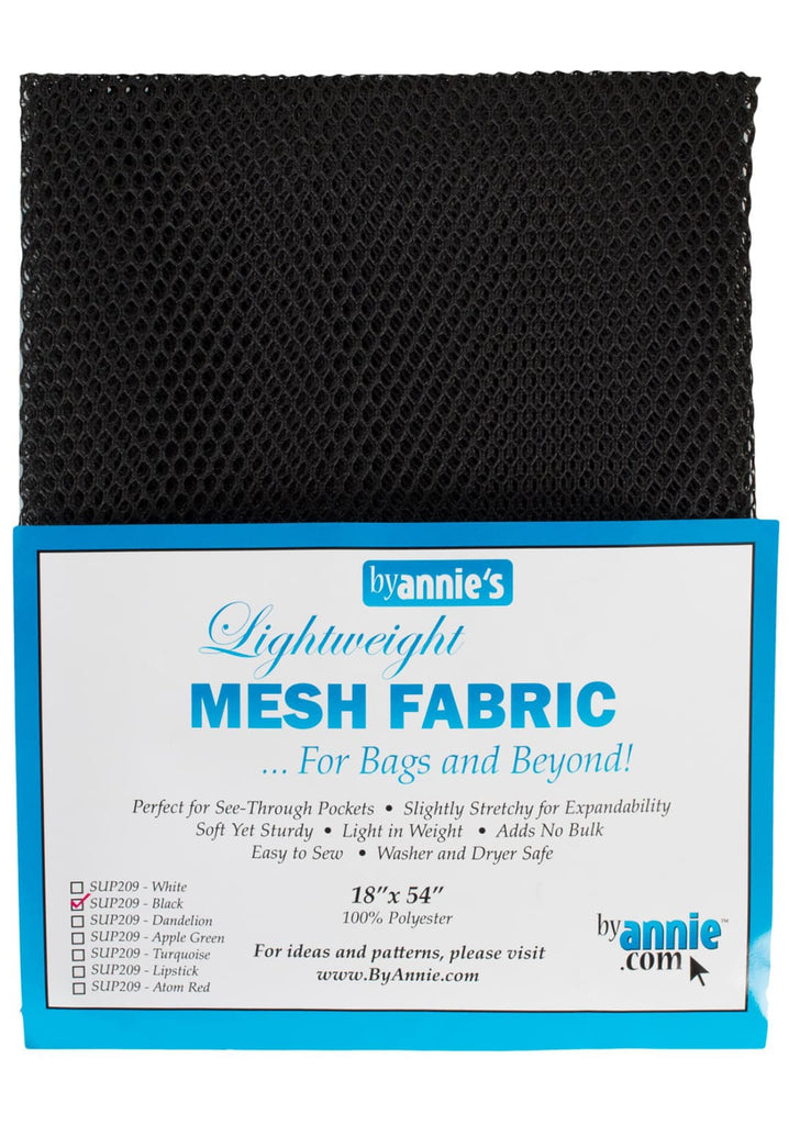 "Mesh Fabric - Sort 18 x 54"" Butik Kiweb"