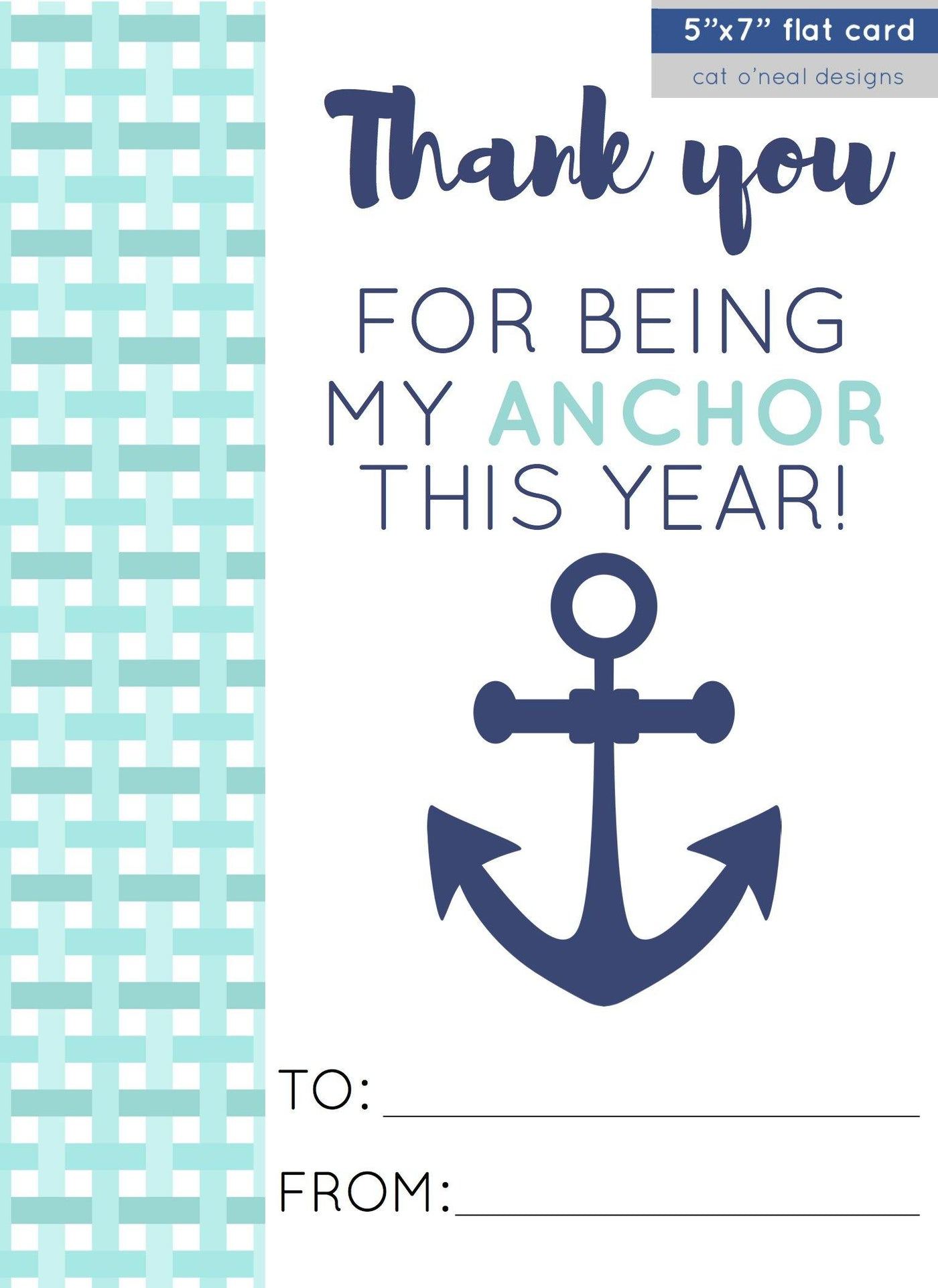 ADD-ON CARD || THANK YOU FOR BEING MY ANCHOR THIS YEAR!