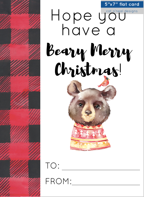 ADD-ON CARD || HOPE YOU HAVE A BEARY MERRY CHRISTMAS! || CHRISTMAS BEAR
