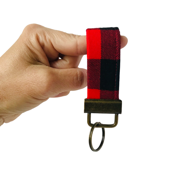 THE MINI FOBSKEY || RED + BLACK BUFFALO CHECK