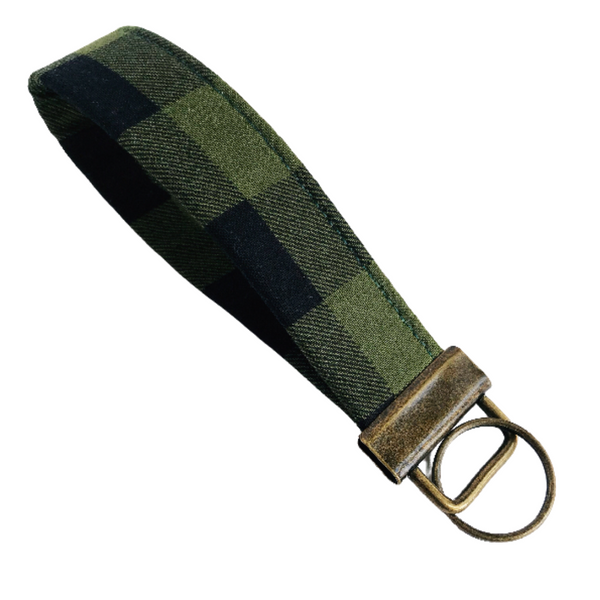 THE FOBSKEY® || GREEN + BLACK BUFFALO CHECK