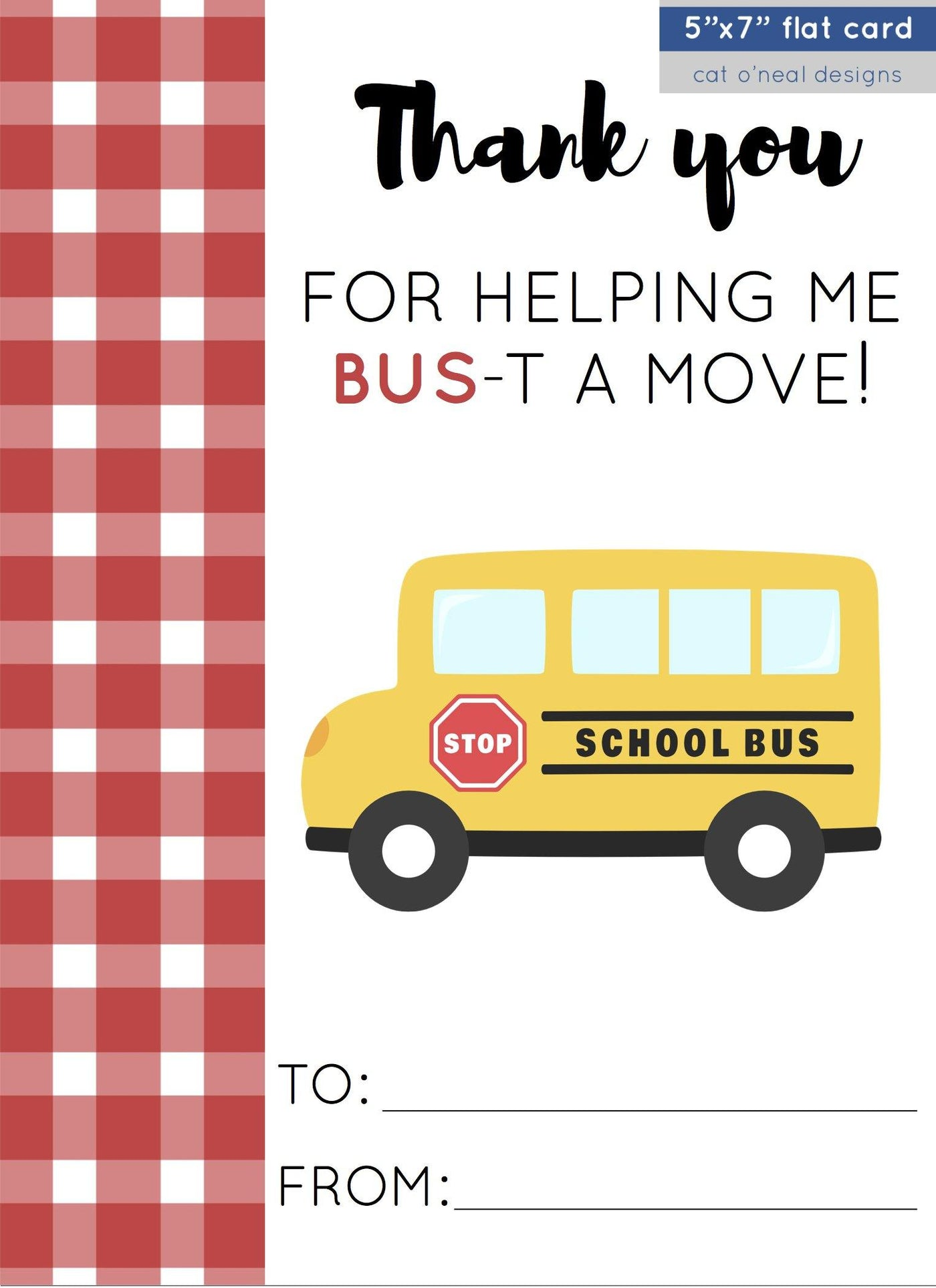 ADD-ON CARD || THANK YOU FOR HELPING ME/US BUS-T A MOVE!