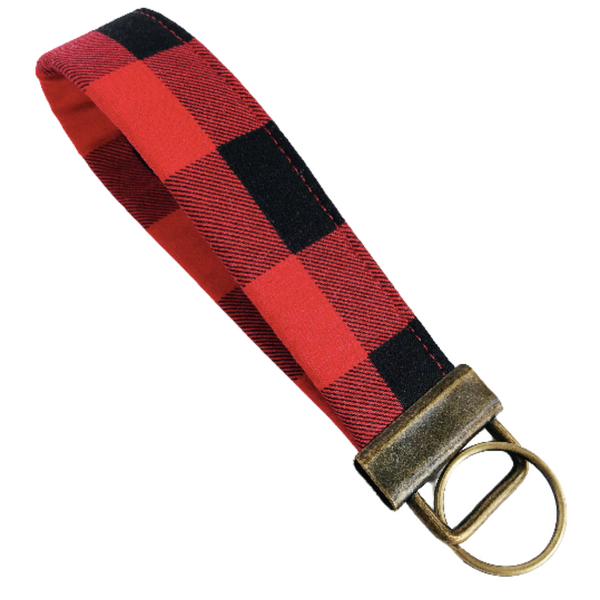 THE FOBSKEY® || RED + BLACK BUFFALO CHECK