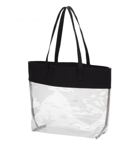 THE CLEAR BAG - BLACK TOTE