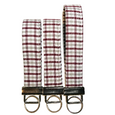 THE FOBSKEY® || MAROON, WHITE AND GRAY PLAID
