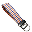 THE FOBSKEY® || ORANGE AND BLUE PLAID