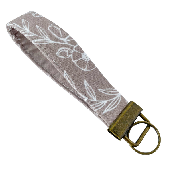 THE FOBSKEY® || TAUPE FLORAL