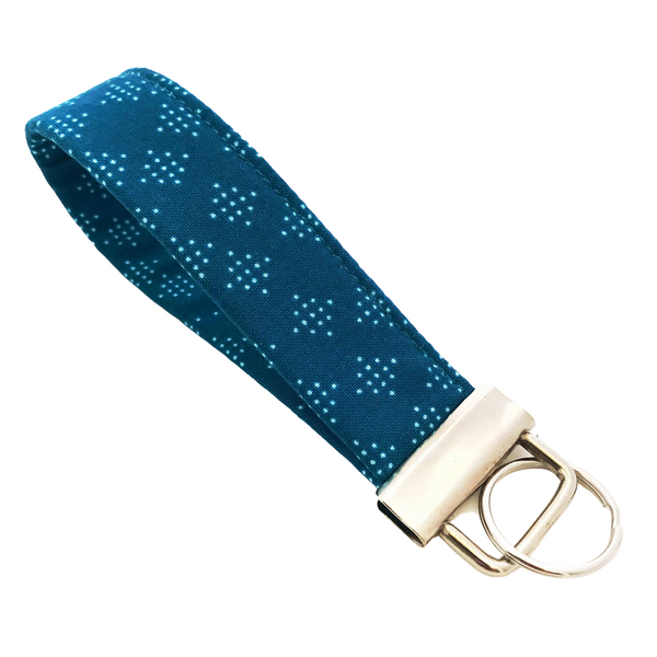 THE FOBSKEY® || TEAL DOTTED DIAMOND