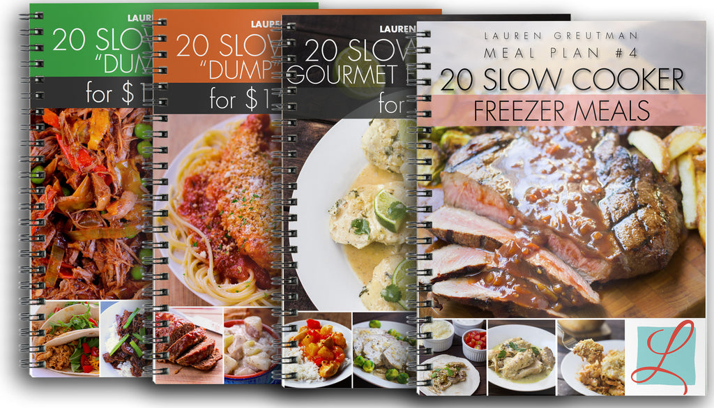 All 4 Slow Cooker Dump Meal Plans (reg price $23.88)!