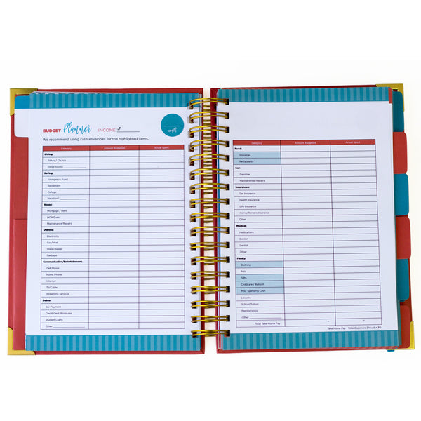 The Personal Finance Planner, Teal Blue