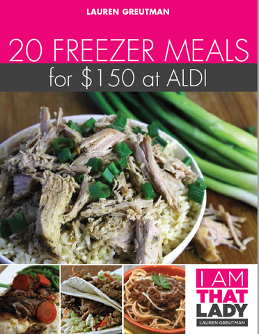 Freezer Cooking Meal Plan