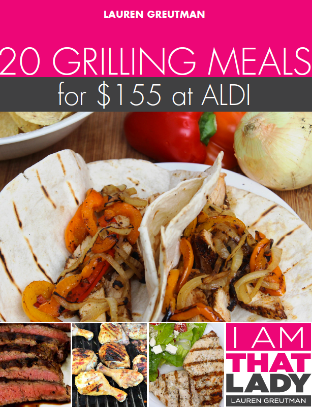 Grilling Meal Plan - 20 meals for under $155!