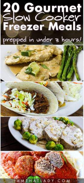 Meal Plan #3 - 20 Gourmet Slow Cooker Freezer Meals