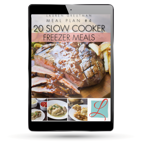 Meal Plan #4 - 20 Slow Cooker Freezer Meals
