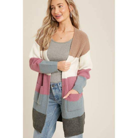 Anabel Colorblock Cardigan