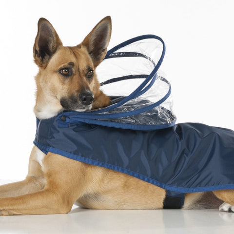 Dog Raincoat - Navy Blue