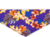 Dog Bandana -  Hawaiian Purple