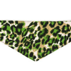 Dog Bandana - Green Animal Print