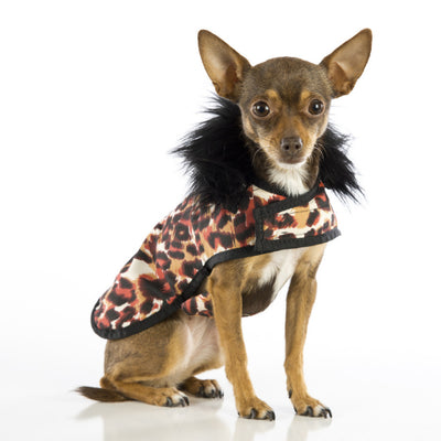 Red Leopard Posh Puppy Coat