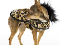 Soft faux leopard fur posh puppy coat