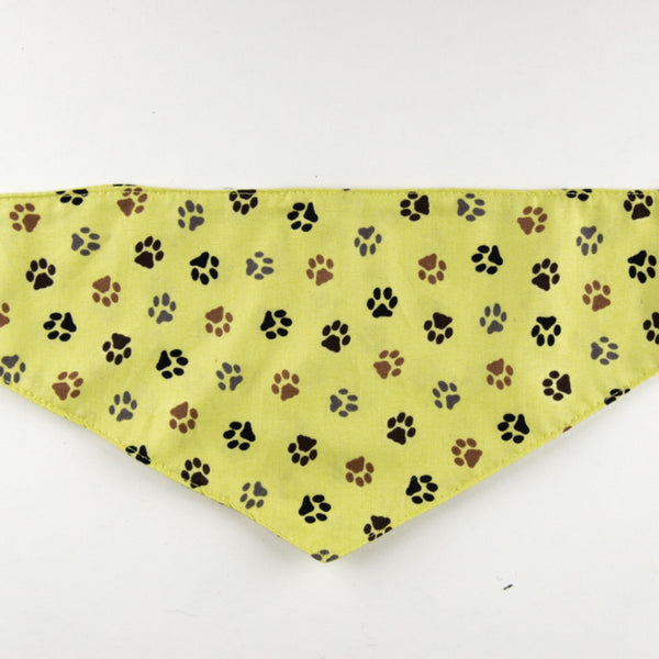Dog Bandana - Yellow Paw Print