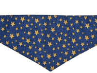 Dog Bandana - Gold Stars
