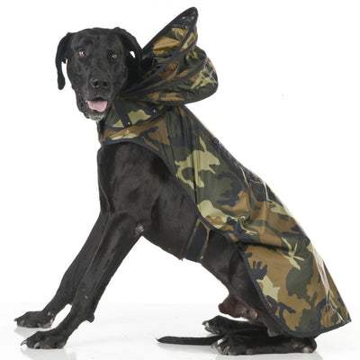 Woodland Camouflage Dog Raincoat