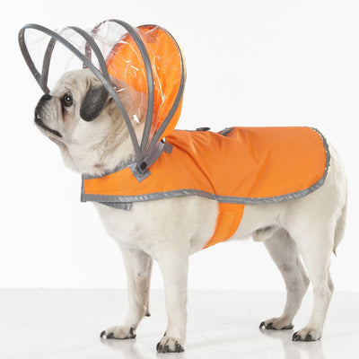 Safety Orange Dog Raincoat
