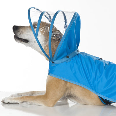Light Blue Dog Raincoat