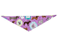 Dog Bandana - Purple Pooches