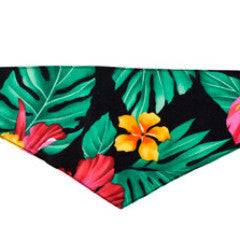 Dog Bandana -  Hawaiian Black