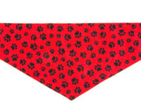 Dog Bandana - Red Paw Print