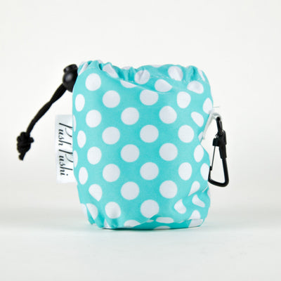 Mint & White Polka Dot Treat Bag