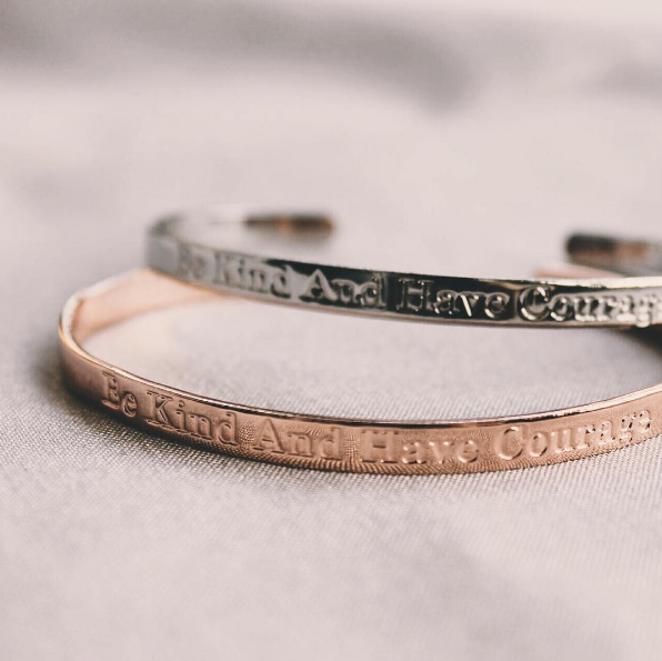 Be Kind And Have Courage Bangle