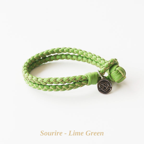 Lime Green Sourire Bracelet