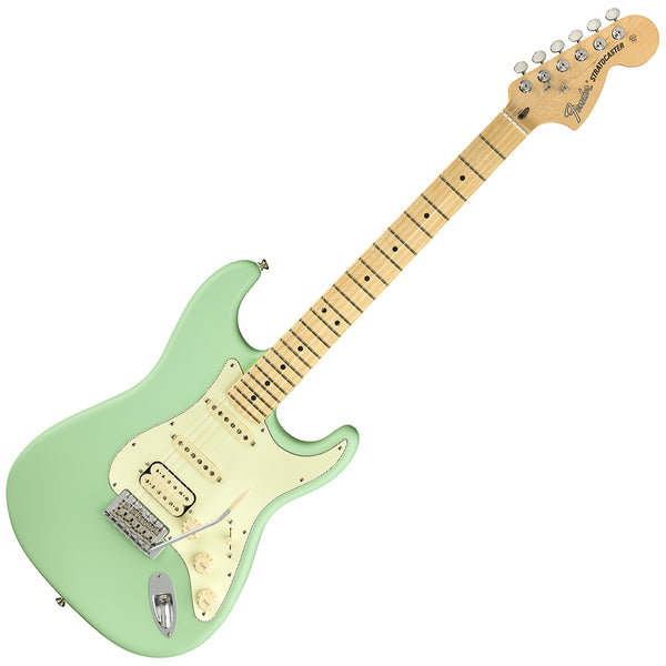 Fender 0114922357 American Performer HSS Stratocaster Electric Guitar Maple in Satin Surf Green w/Bag